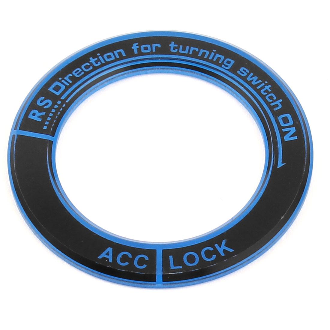 Ignition Sticker Luminous Key Circle Cover Ring Black Blue for Honda Acrylic