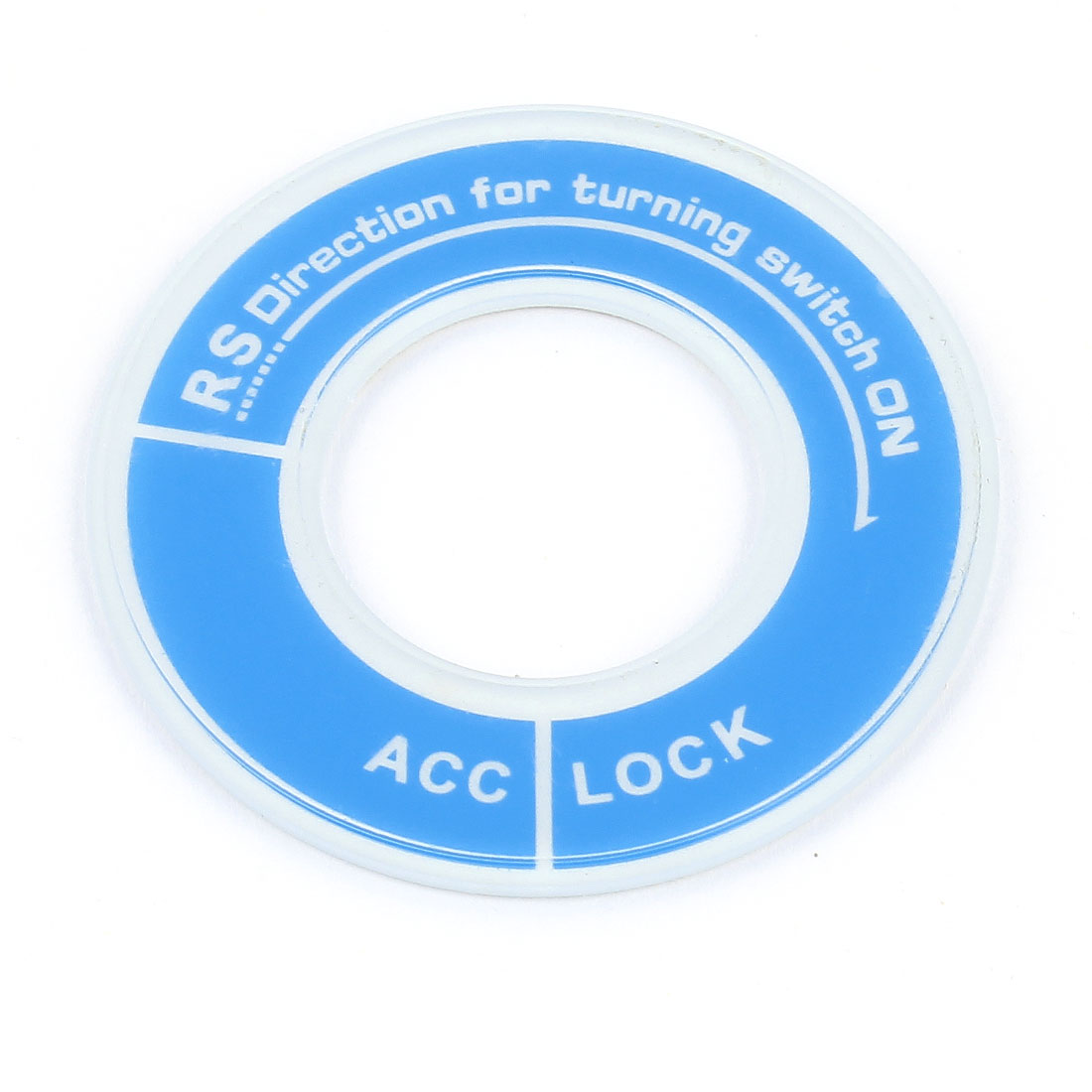 Ignition Sticker Luminous Key Circle Cover Ring Blue White for Ford Acrylic