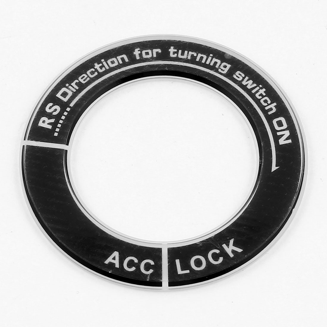 Glow in Dark Sticker Luminous Key Circle Cover Ring Black for Nissan Acrylic