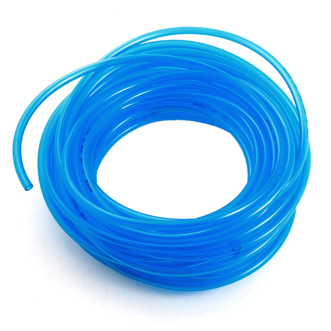 4mm x 6mm 15Meter/50Ft Long Fuel Gas Petrol Diesel Flexible Air PU Tube Hose Clear Blue