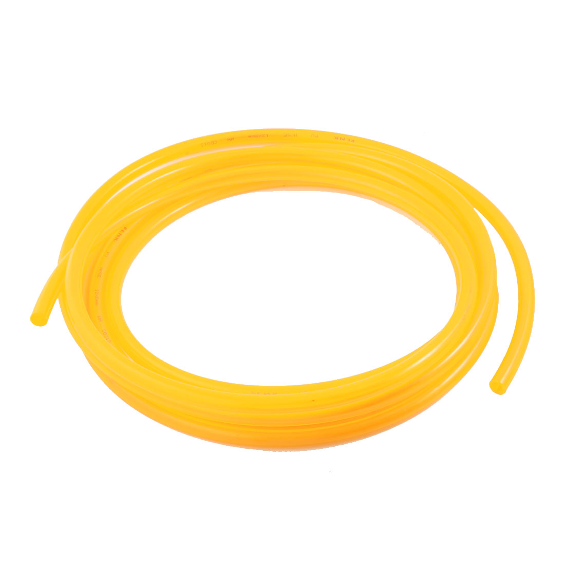 Clear Yellow Polyurethane 8mm x 12mm 5M 16ft Long Flexible Air PU Tube Pneumatic Pipe Hose