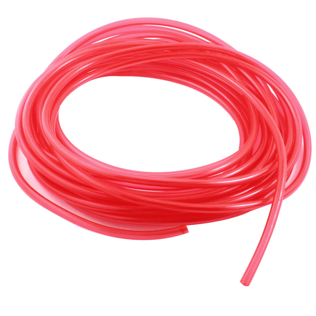 10Meters/33Ft Long 5x8mm Fuel Gas Petrol Diesel Flexible Hose Air PU Tubing Pneumatic Pipe Tube Clear Red