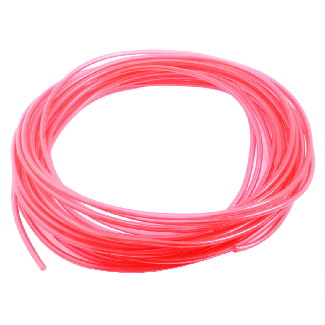 15M/50Ft 4x6mm Fuel Gas Petrol Diesel Flexible Air PU Tubing Pneumatic Pipe Tube Hose Clear Red