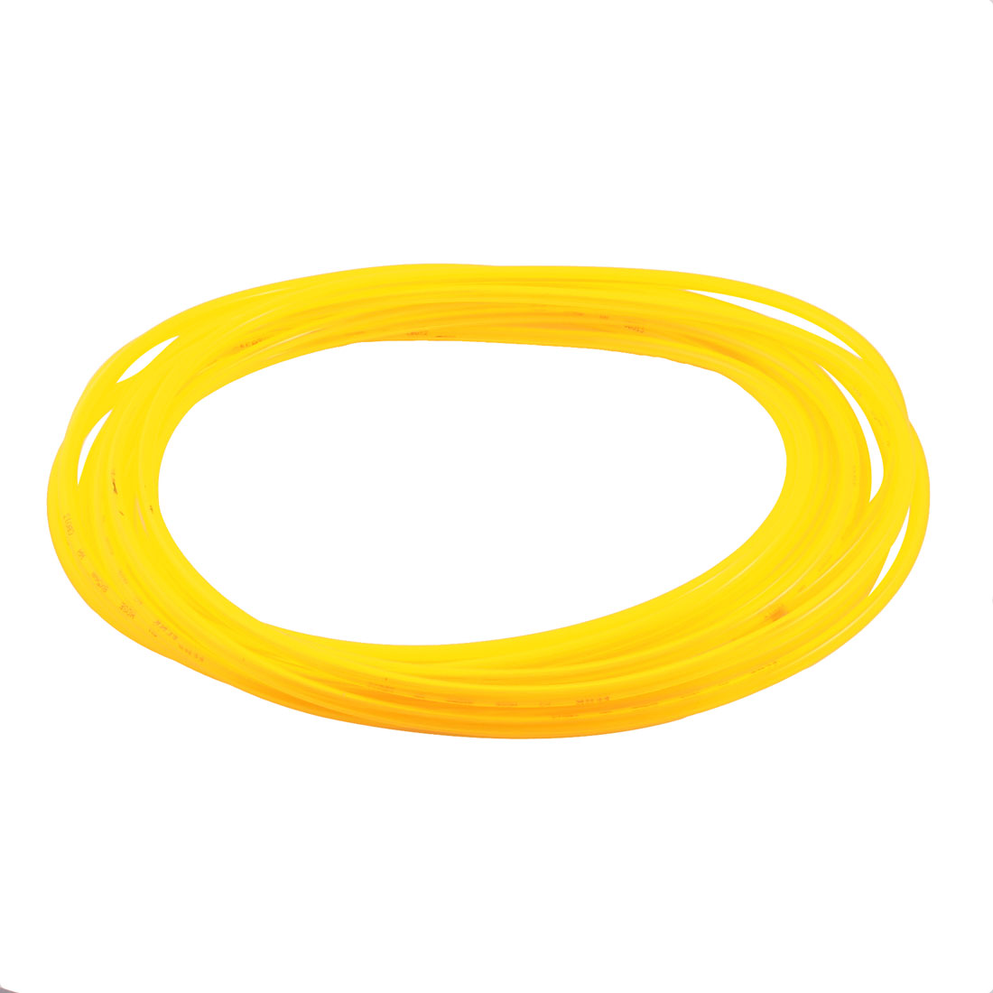 5mmx8mm 10M/33ft Long Clear Yellow Polyurethane Flexible Gas Fuel Water Hose Air PU Tube Pneumatic Pipe