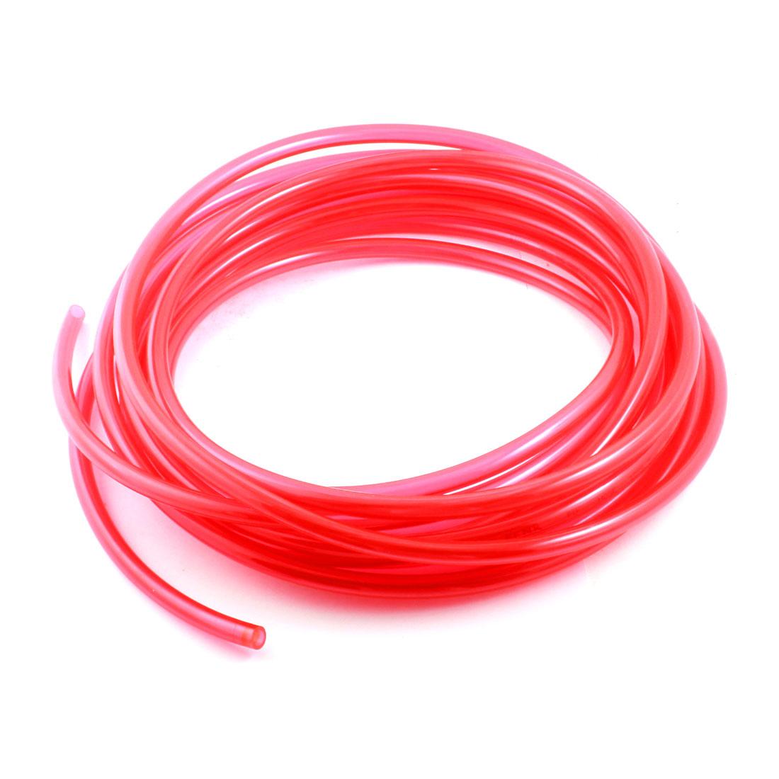10Meters/33Ft Long 6.5x10mm Fuel Gas Petrol Diesel Water Flexible Hose Air PU Tubing Pneumatic Pipe Tube Clear Red