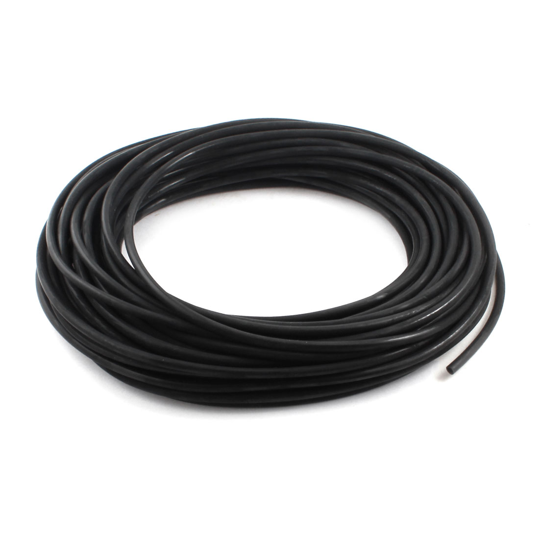 25Meter/82Ft Long 6mm x 4mm Fuel Gas Petrol Diesel Water Pipe Flexible Air PU Tube Pneumatic Hose Black