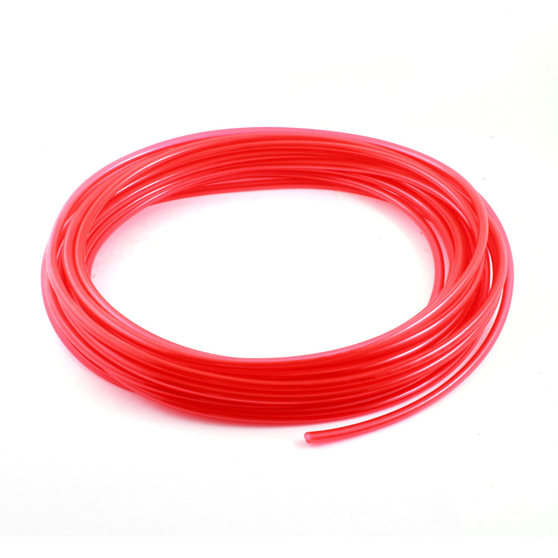 5mm x 8mm 15M/50Ft Long Clear Red Polyurethane Flexible Gas Fuel Water Pipe Pneumatic Hose Air PU Tube