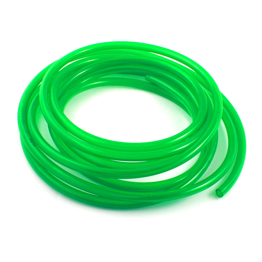 Engine Gas Fuel Oil Injection PU Line Tubing Tube 6.5x10mm 16.5Ft Clear Green