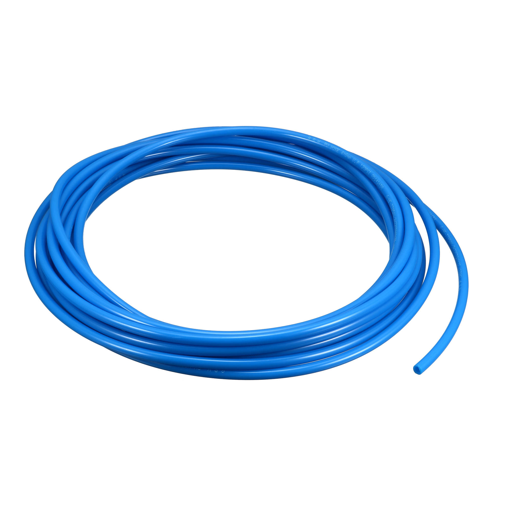 Pneumatic 4x6mm Fuel Gas Quick Fittings Connection PU Line Tube 7.5M Blue