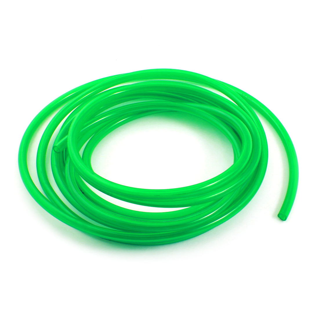 Pneumatic 5x8mm Fuel Gas Quick Fittings Connection PU Line Tube 5M Clear Green