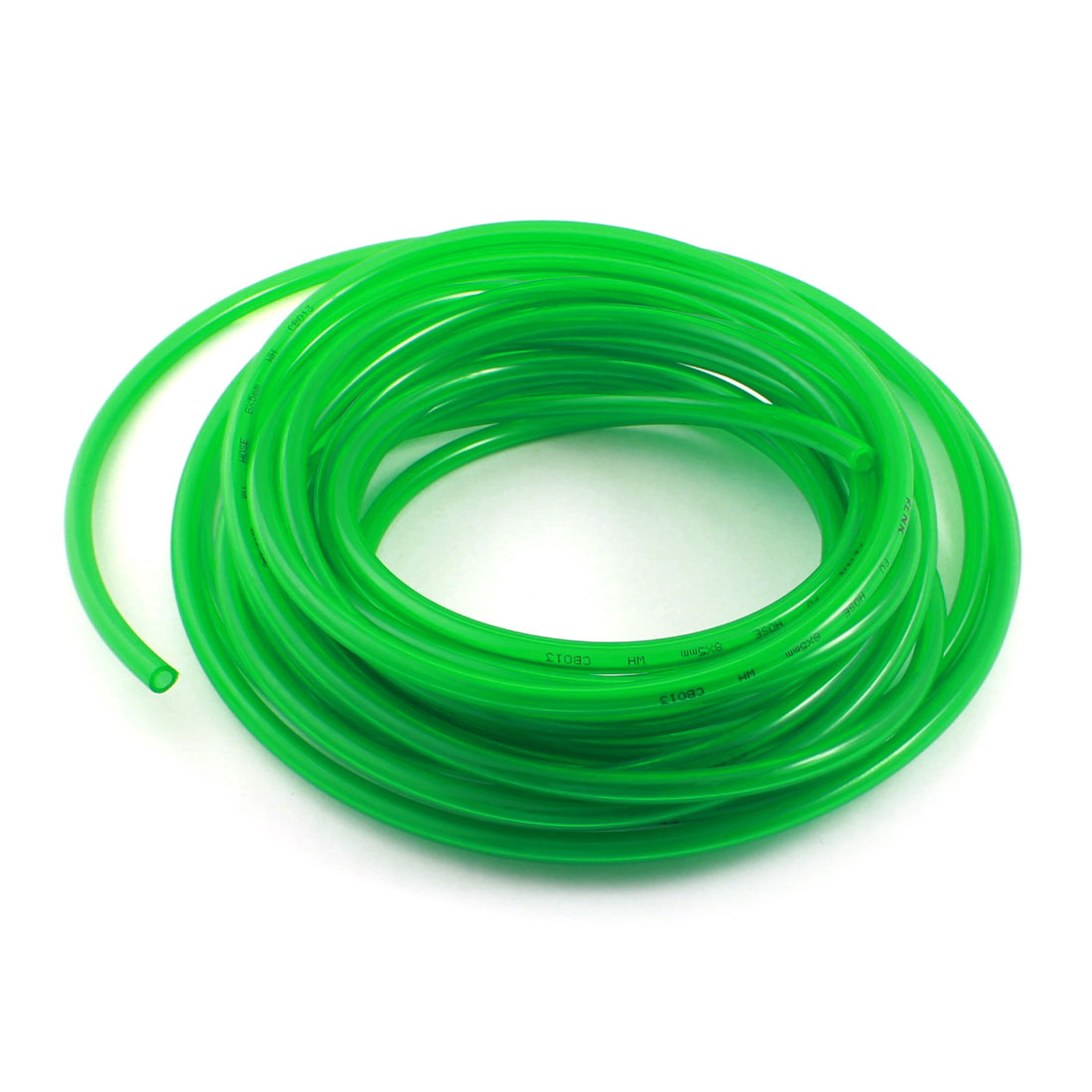 Engine Gas Fuel Oil Injection PU Line Tubing Tube 5mmx8mm Dia 33Ft Clear Green