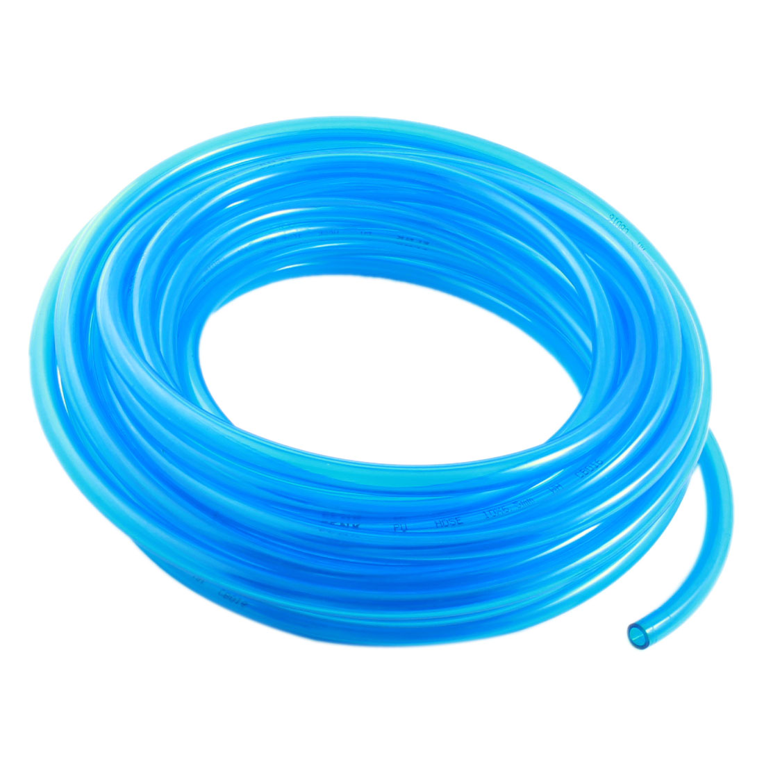 Pneumatic 6.5x10mm Gas Quick Fittings Connection PU Line Tube 10M Clear Blue