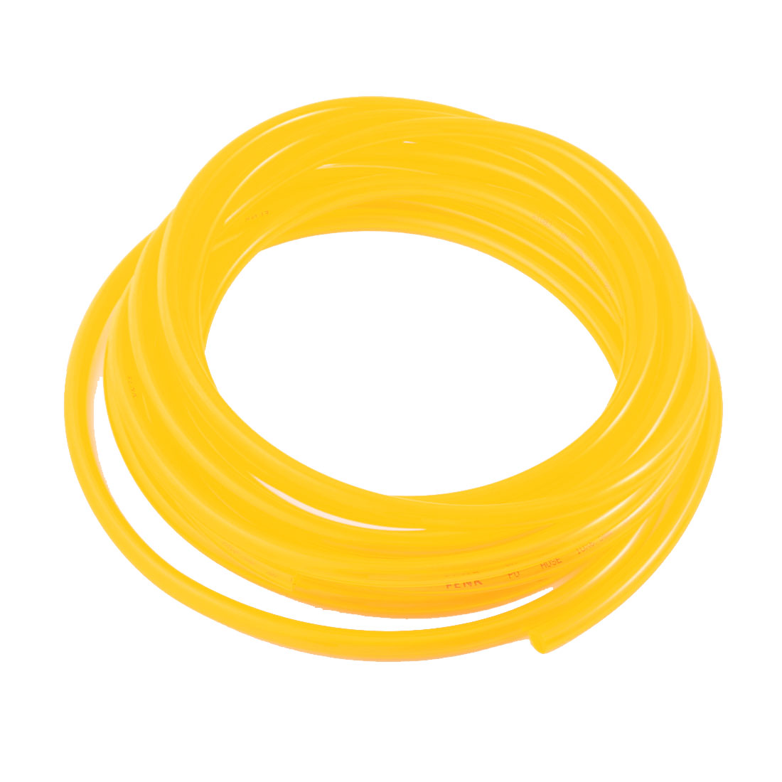 Engine Gas Fuel Oil Injection PU Line Tubing Tube 6.5mmx10mm Dia 23Ft Clear Yellow