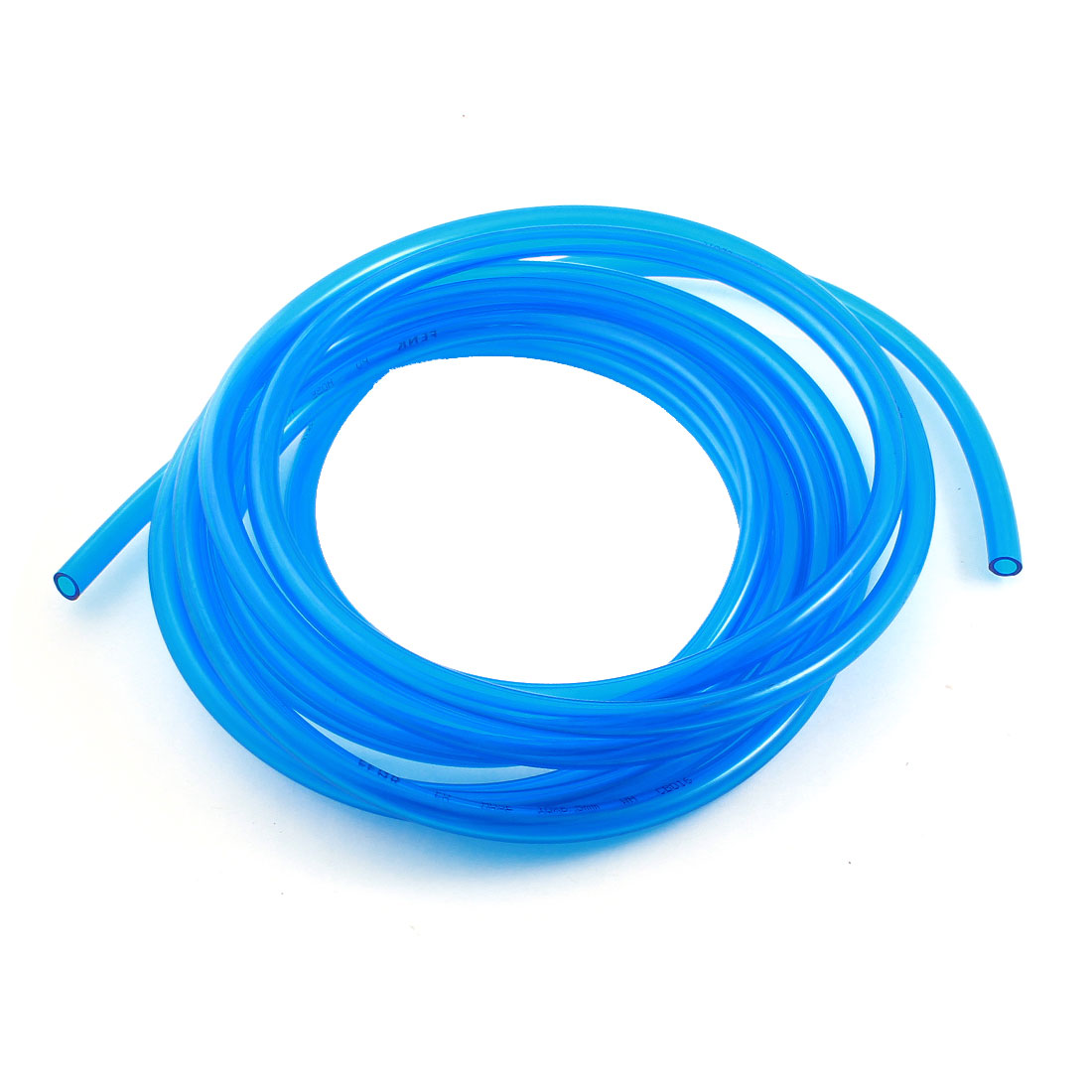 Pneumatic 6.5x10mm Air Gas Quick Fittings Connection PU Line Tube 5M Clear Blue