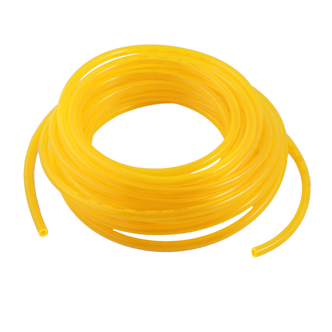 Engine Gas Fuel Oil Injection PU Line Tubing Tube 5mmx8mm Dia 33Ft Clear Yellow
