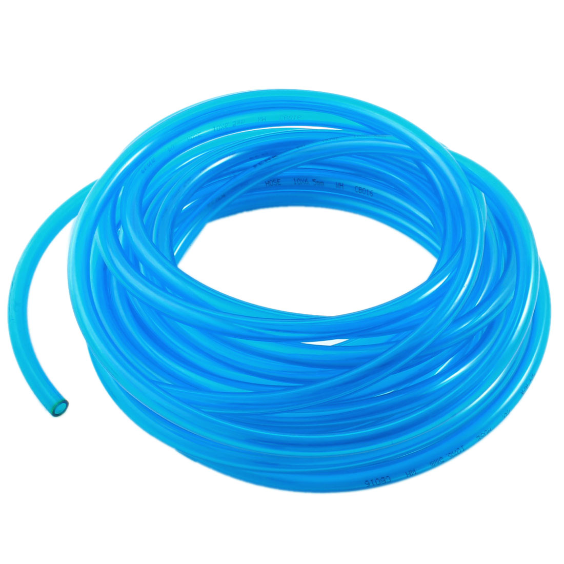 Pneumatic 6.5x10mm Air Gas Quick Fittings Connection PU Tube 10Meter Clear Blue
