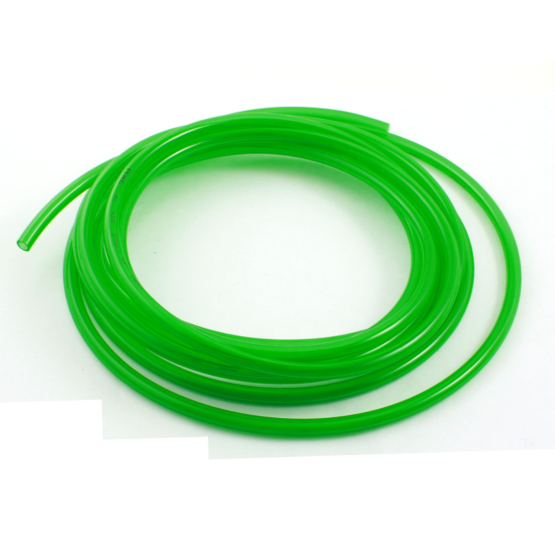 Engine Gas Fuel Oil Injection PU Line Tubing Tube 5mmx8mm 5Meter Clear Green