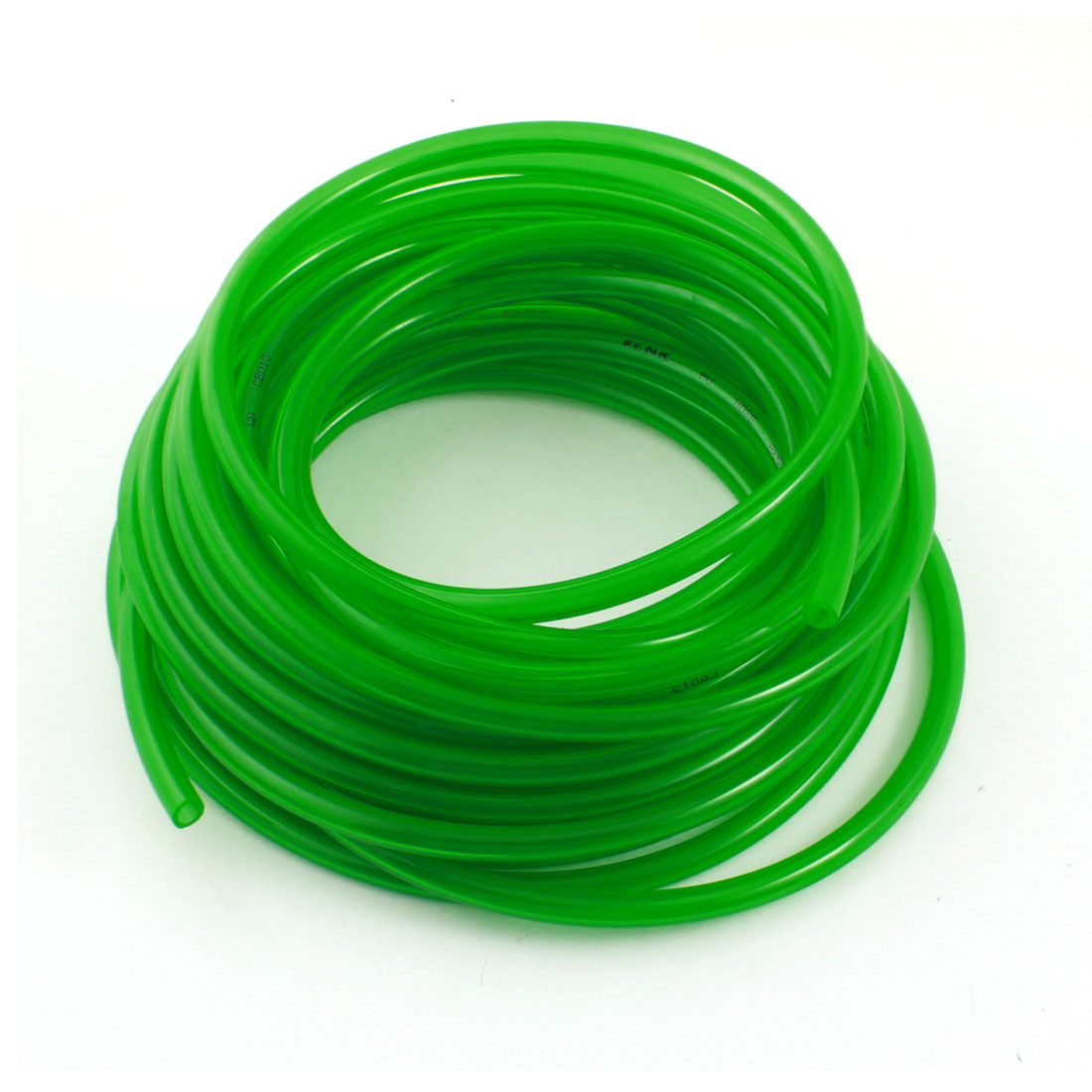 Engine Gas Fuel Oil Injection PU Hose Tubing Tube 5mmx8mm Dia 33Ft Clear Green