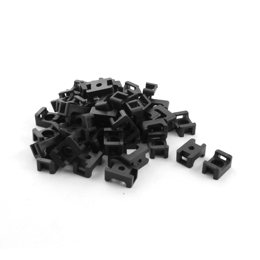 50Pcs 5mm Slot Width Wire Bundle Cable Tie Mount Saddle Base Holder Cradle