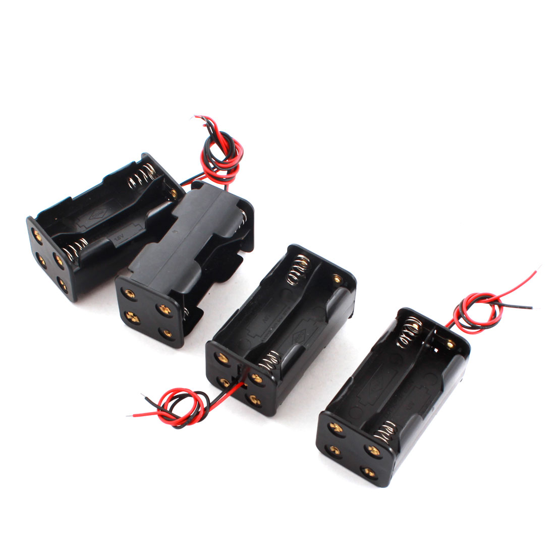 4pcs DIY Double Sides 4 x AA Battery Battery Case Holder Box Container