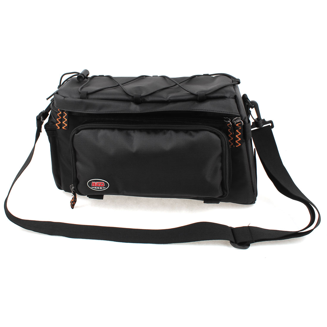 Cycling Bike Bicycle Rear Seat Bag Shoulder Handbag Pannier Black