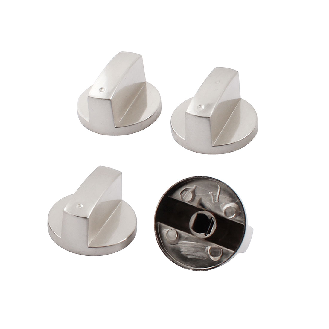 4 Pcs 40mm Dia Stainless Steel Grip Rotary Knob for Gas Stove Oven