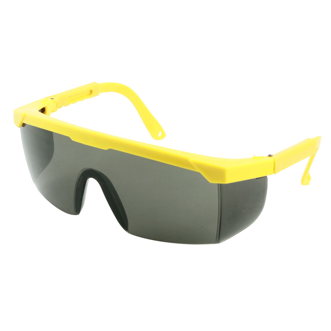 Yellow Adjustable Plastic Arms Protective Welding Sunglasses Glasses
