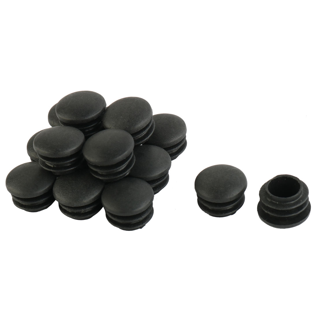 Chair Table Legs 22mm Diameter Plastic Cap Round Tube Insert 15 Pcs