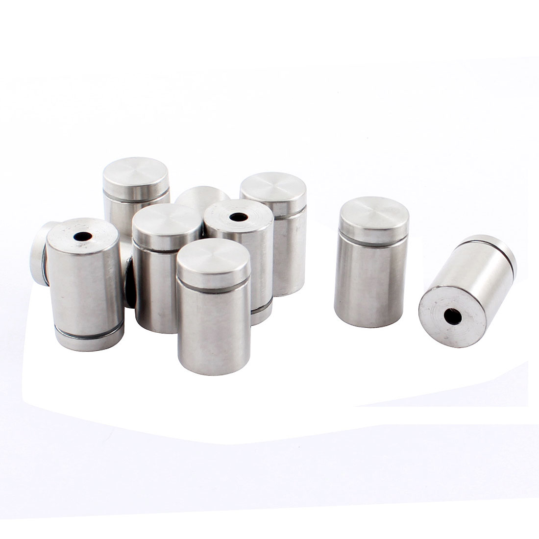 10 Pcs 19mm x 30mm Stainless Steel Standoff Clamp Hardware for Glass