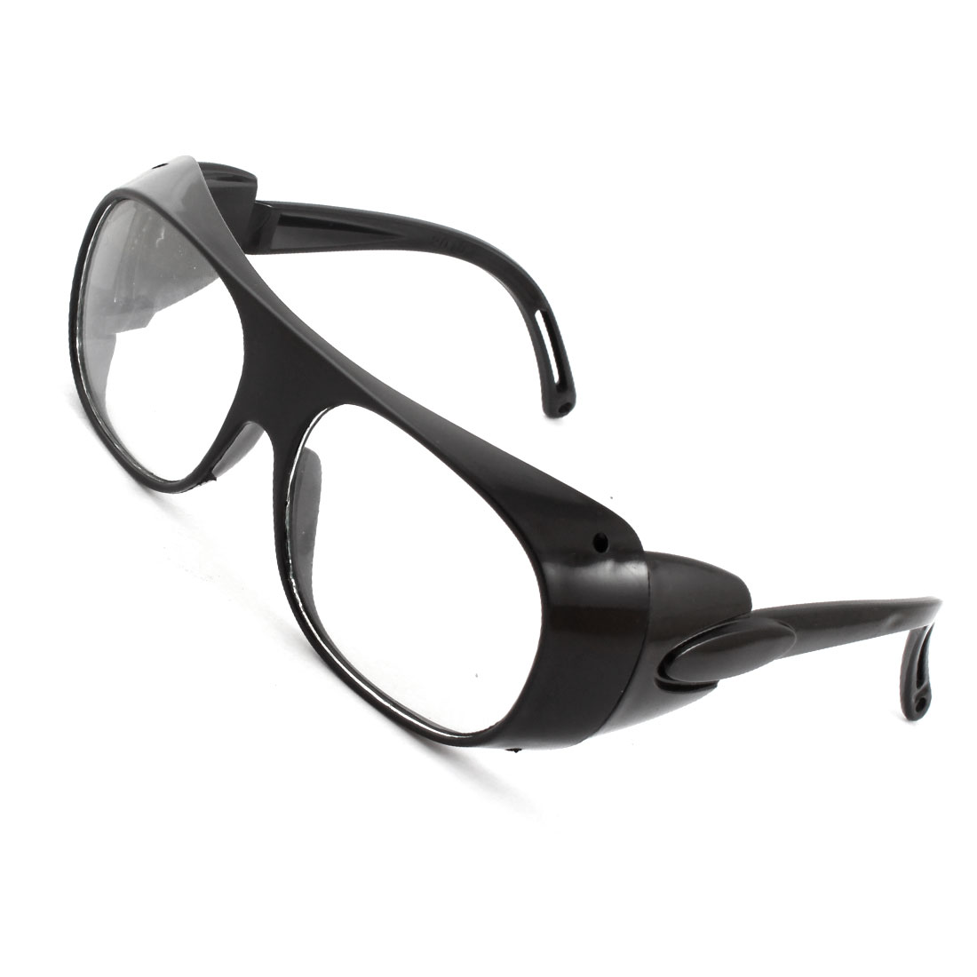 Black Plastic Arm Full Frame Protective Welding Plain Glasses