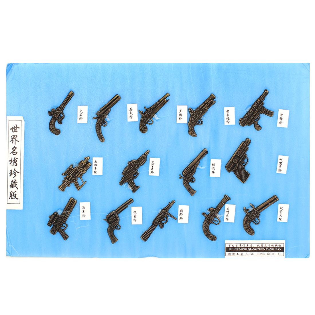 Handcraft Artwork Gun Handgun Roer Foam Colleting Board Blue