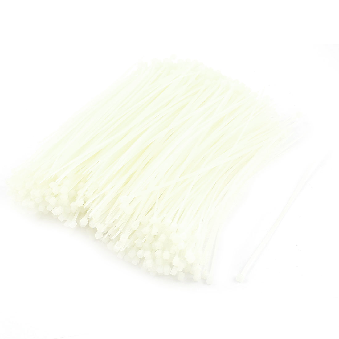 "1000pcs 6"" Length White Cord Wire Strap Nylon Cable Tie"