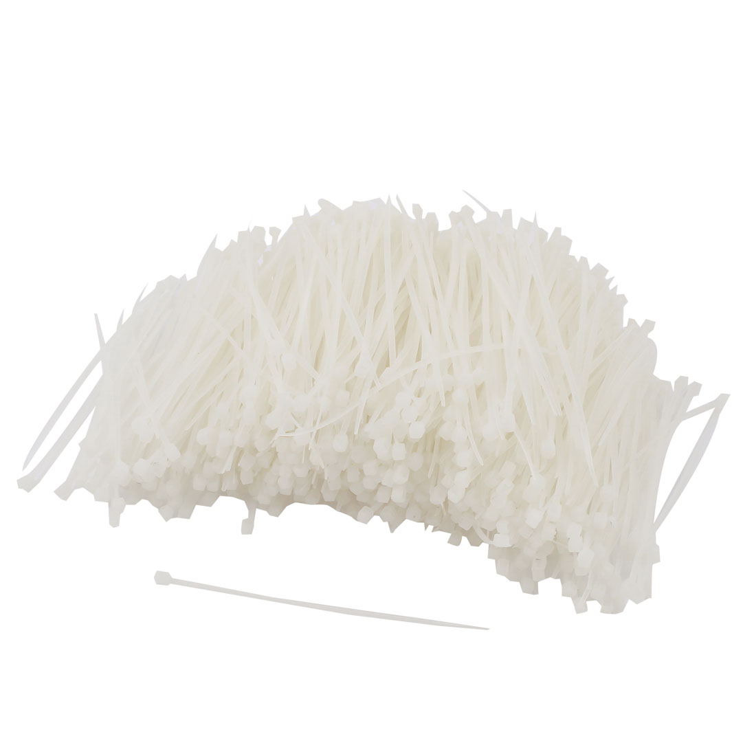 "1000pcs 4"" Length White Cord Wire Strap Nylon Cable Tie"
