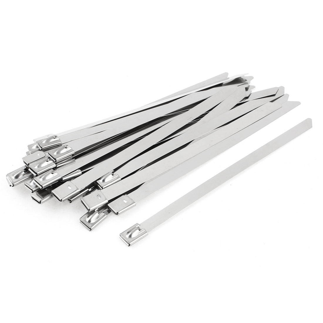 "30pcs 0.3"" x 6"" Flat Bar Self Locking Stainless Steel Zip Cable Ties"