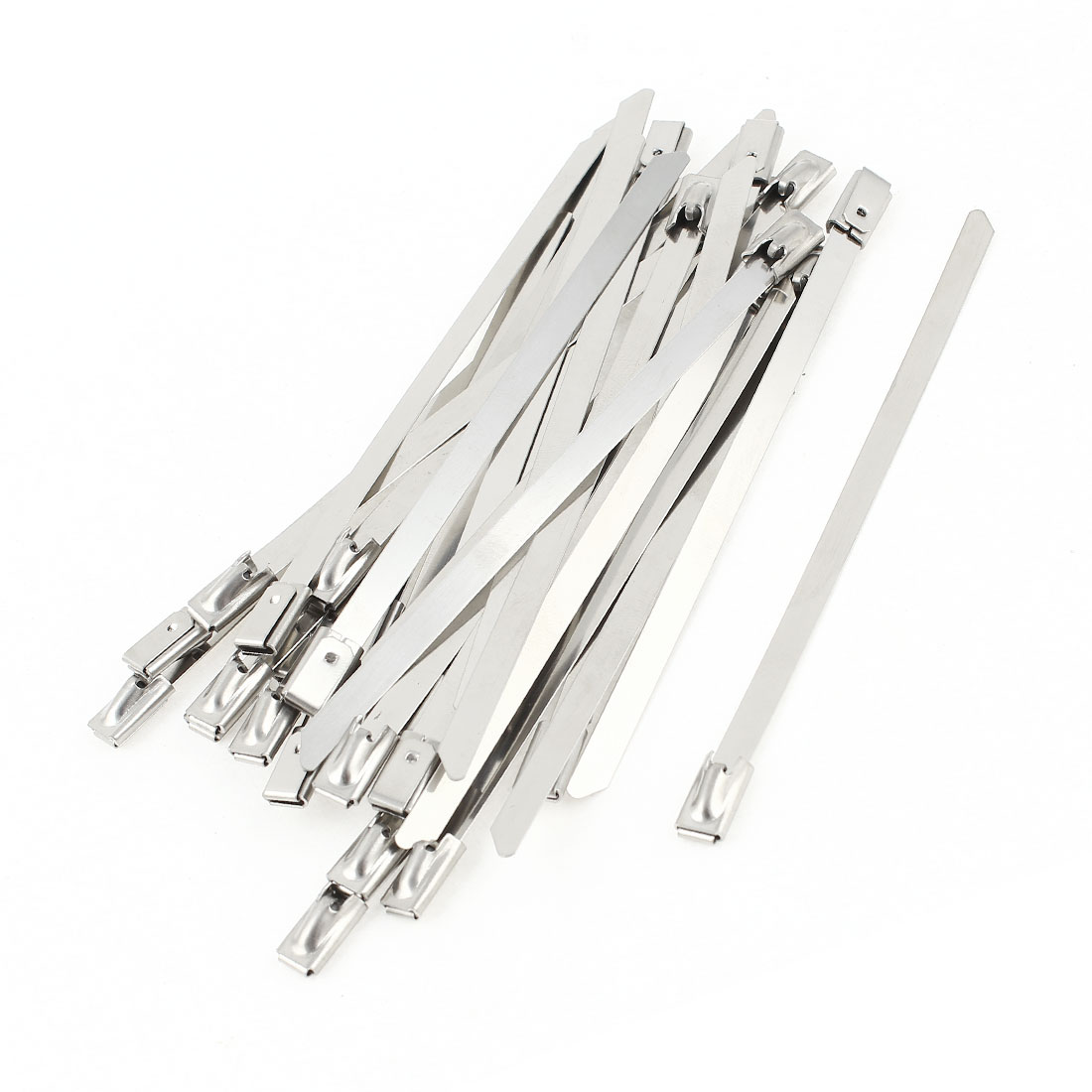 30pcs Stainless Steel Zip Cable Ties 4.6mmx100mm for Exhaust Header