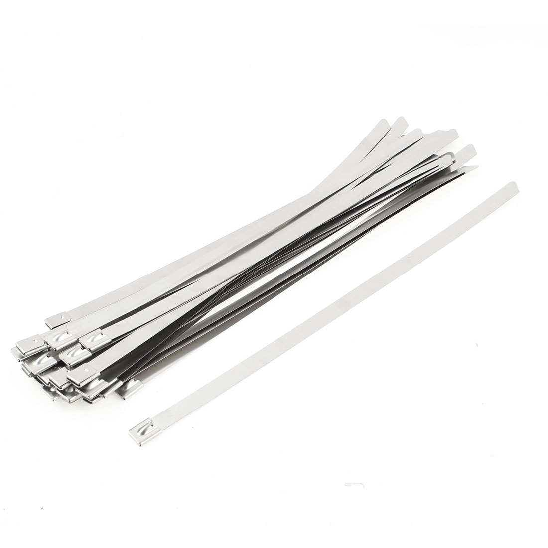 30pcs Strap Clamp Stainless Steel Zip Cable Ties Wrap 12mmx350mm