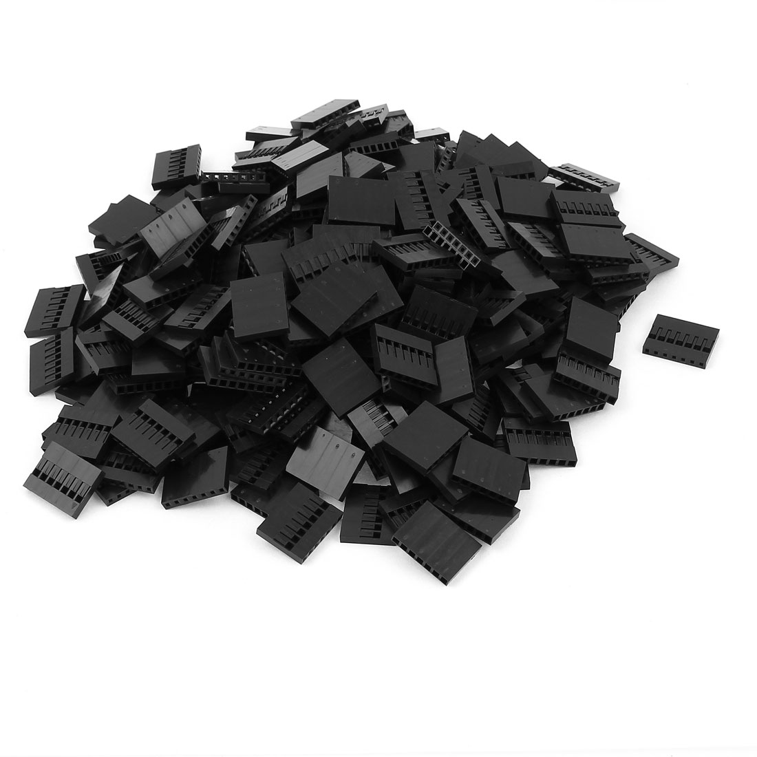 300pcs 7P 2.54mm Black Jumper Wire Female Pin Connectors