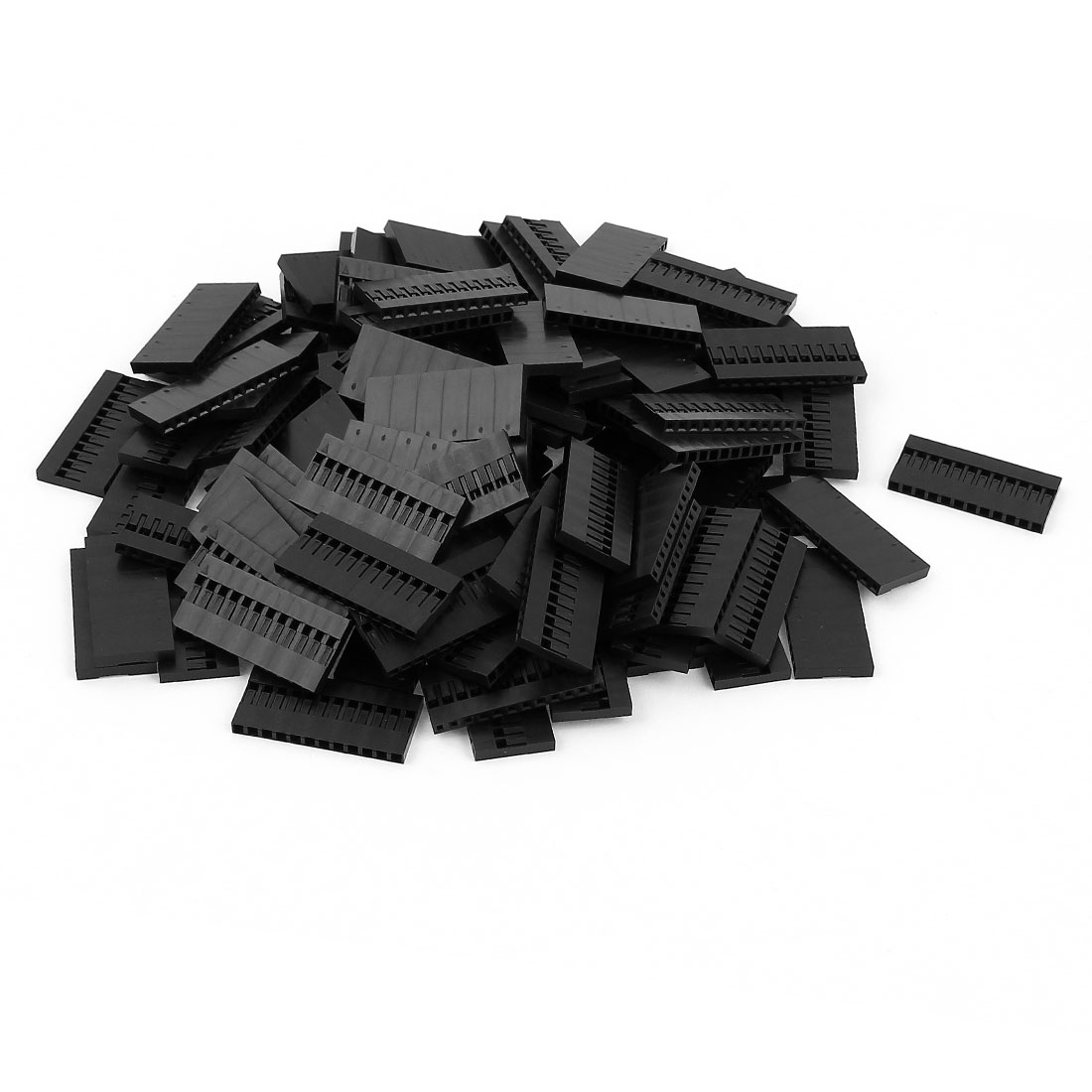 100pcs 12P 2.54mm Jumper Wire Female Pin Connectors Housing