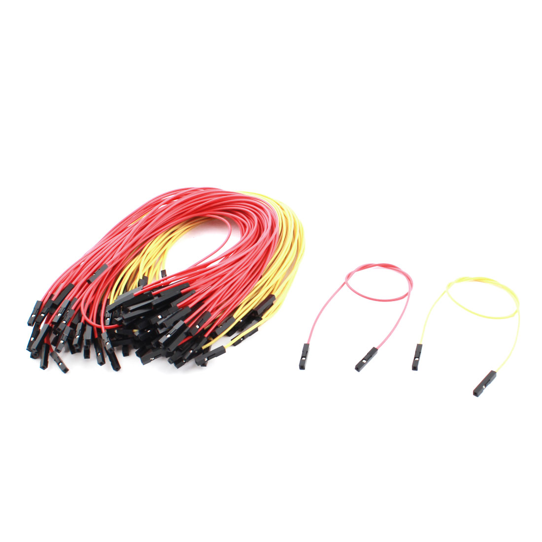 100pcs 1P-1P F/F PCB Test Solderless Jumper Cable Wire Line 2.54mm 25cm