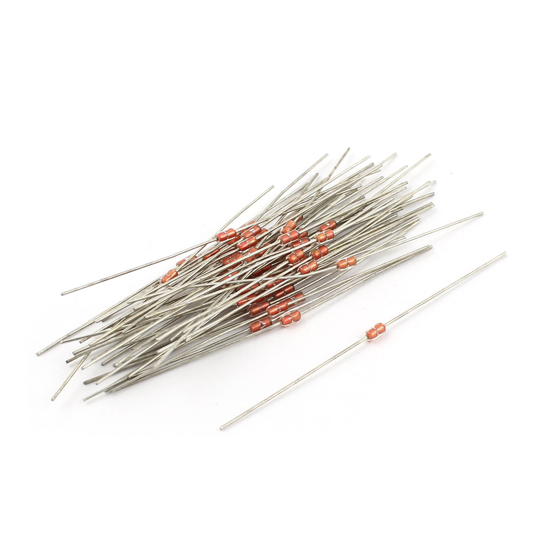 50pcs MF58 2K Ohm 3950B 5% Temperature Sensor Glass Encapsulated NTC Thermistors