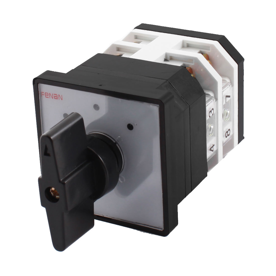 LW12-16 AC 500V 16A 8 Screw Terminals 3-Position 2-Pole Panel Mounting Rotary Cam Changeover Selector Switch
