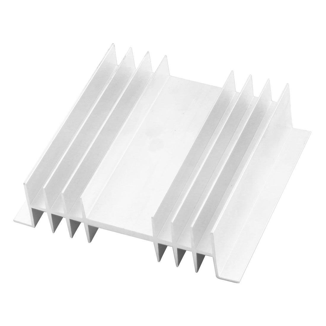 Electronic Component Transistor Silver Tone Aluminium Heatsink Heat Spreader Cooling Fin 116mmx100mmx32mm