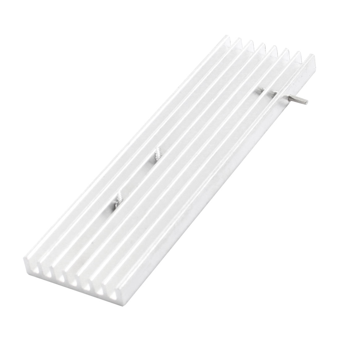88mm x 25mm x 5mm Silver Tone Aluminum Heatsink Heat Dissipation Cooling Fin for Chipset