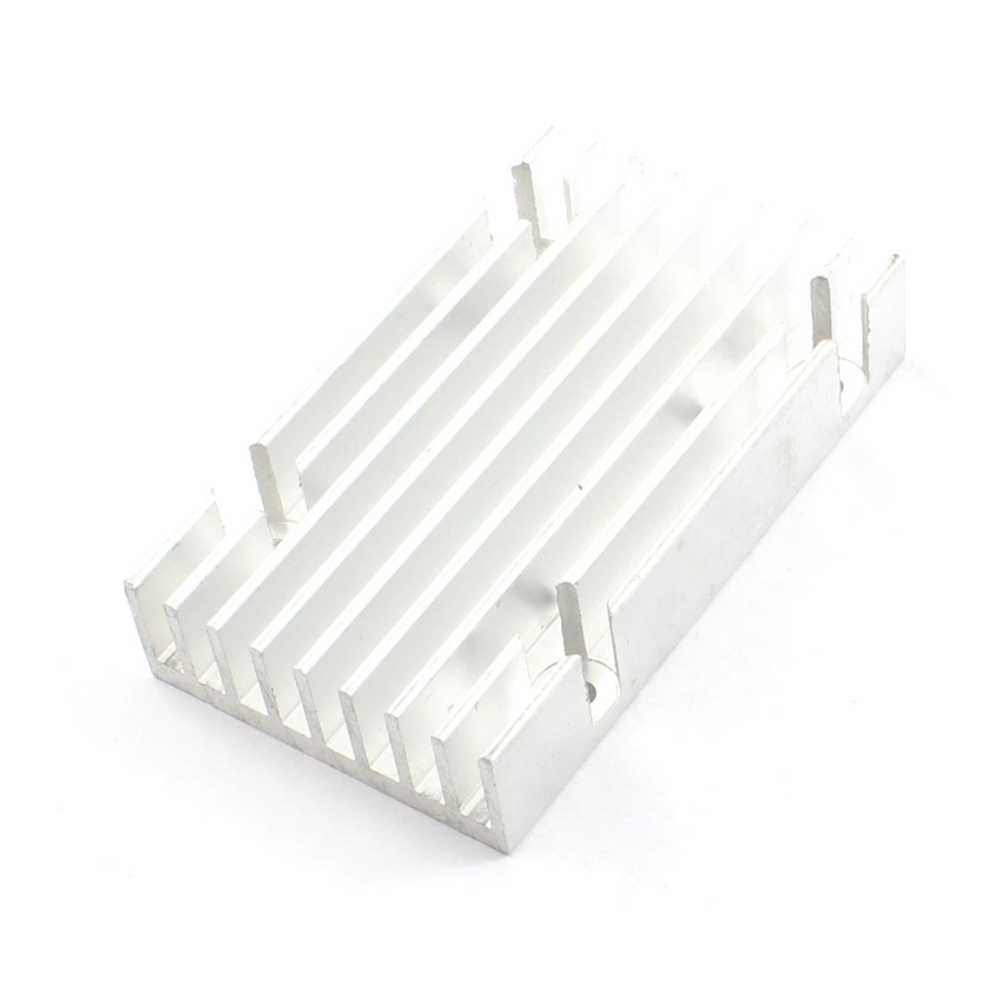 84mm x 50mm x 17mm Rectangle Aluminium Profile Heatsink Heat Dissipate Cooling Fin Silver Tone