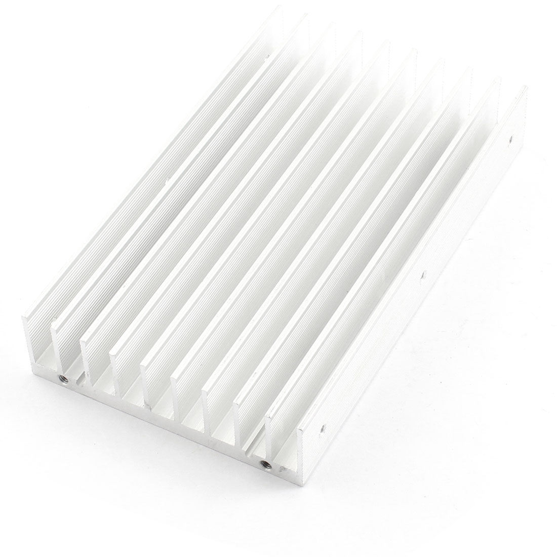 130mm x 76mm x 22mm Rectangle Aluminium Profile Heatsink Heat Dissipate Cooling Fin Silver Tone