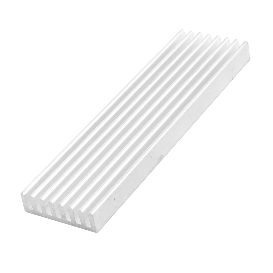 Rectangle Silver Tone Aluminium Heat Sink Diffuse Cooling Fin 100mm x 28mm x 8mm