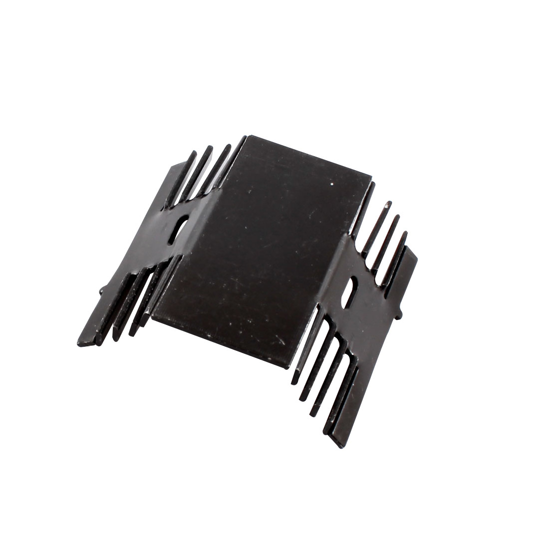 Electronic Component Aluminium Heatsink Radiator Heat Spreader Cooler Fin Black 60mmx55mmx22mm for Transistor