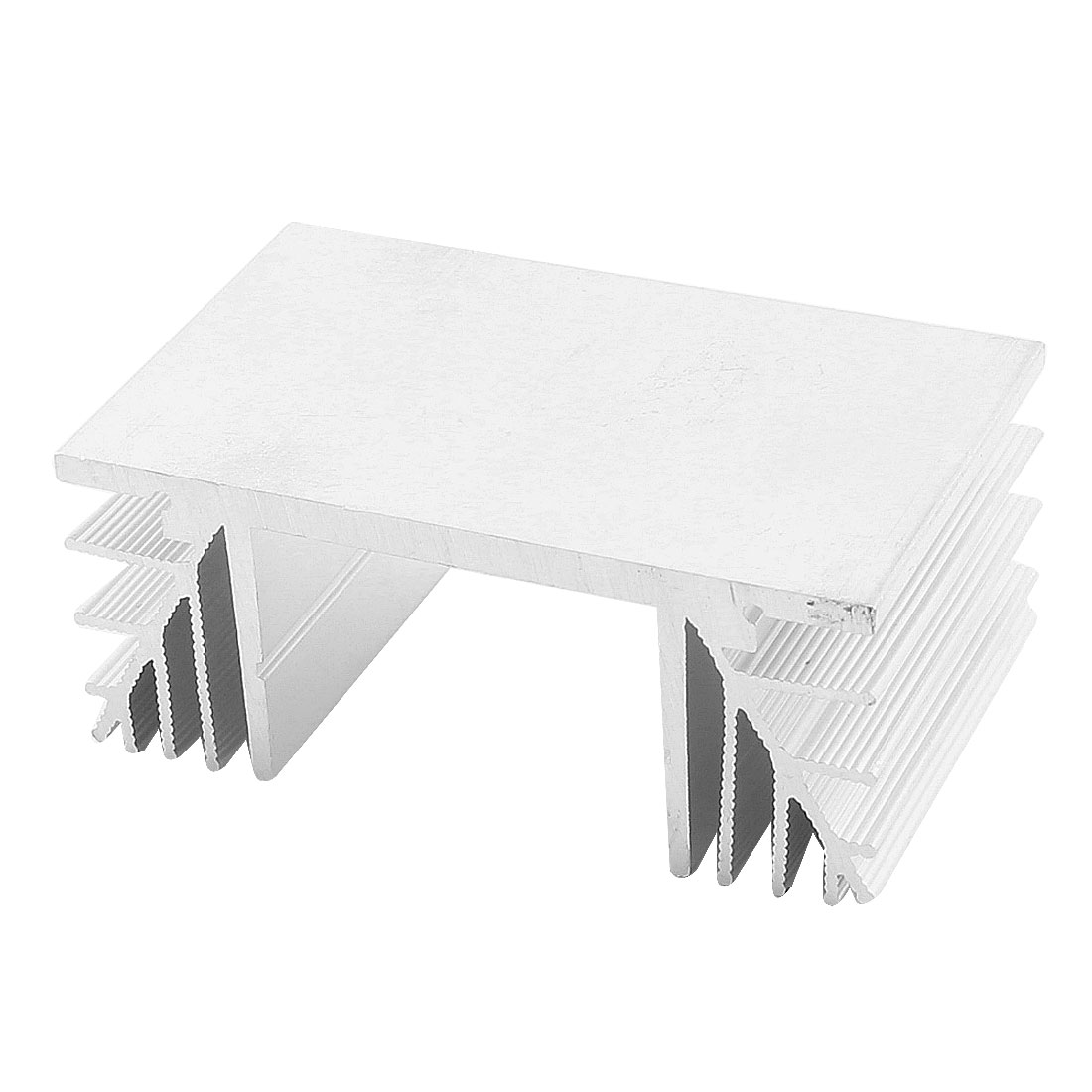 80mm x 50mm x 33mm Silver Tone Aluminium Heatsink Heat Dissipation Cooler Fin