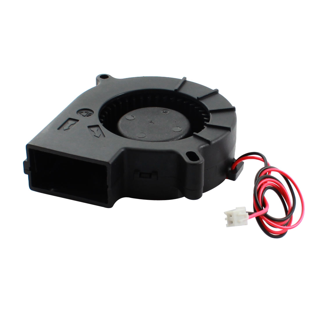 DC 12V JST-XH Plug Connector Black Plastic Brushless Sleeve-bearing Cooling Blower Axial Fan 75mm x 25mm