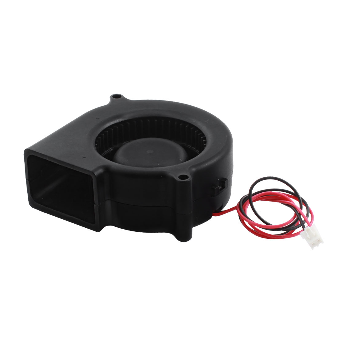 DC12V JST-XH Connector Black Plastic Brushless Cooling Blower Axial Fan 75mm x 30mm